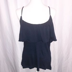 Chaser NWT Tank Top Ruffle Blue Size M